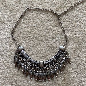 American Eagle silver statement necklace